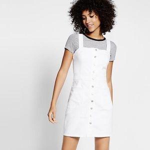 Express white jean dress ✨